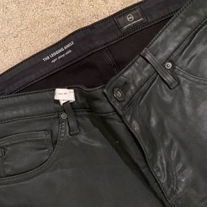 AG black leather pants